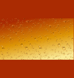 realistic beer soda champagne bubbles vector image