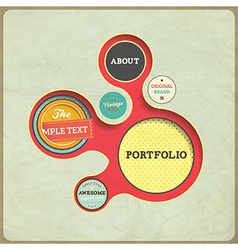 Sample text portfolio design element vector
