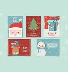 set card celebration happy christmas vector image