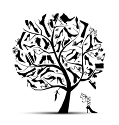 shoe tree vector image