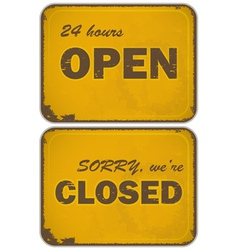 sign open closed vector image