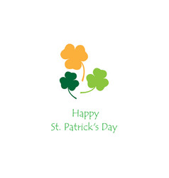simple of patricks day clover vector image