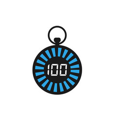 stopwatch graphic icon design template vector image
