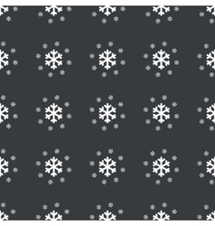 Straight black snowflakes pattern vector image