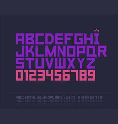 Strict font vector