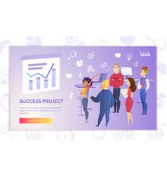 success project presentation cartoon banner vector image