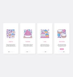 sweet bakery food products dessert menu ux ui vector image