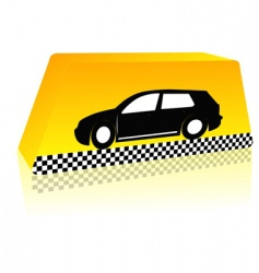 taxi on the way vector image