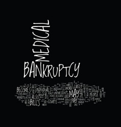 The difficulty in medical bankruptcy text vector