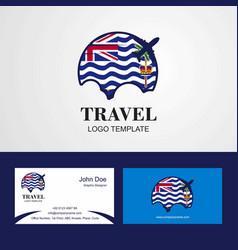 Travel british indian ocean territory flag logo vector