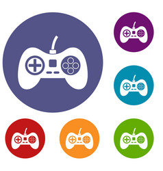 Video game console controller icons set vector