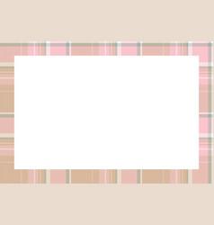 Vintage frame scottish border pattern retro vector