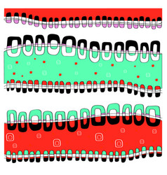 waves and figures red-green vector image