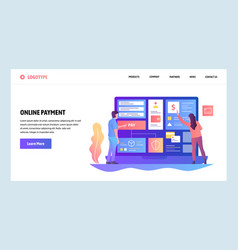 Web site design template online shopping vector