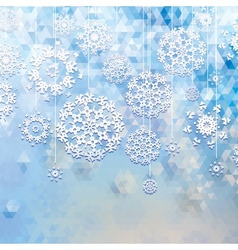 Winter background with triangle texture EPS10 vector image