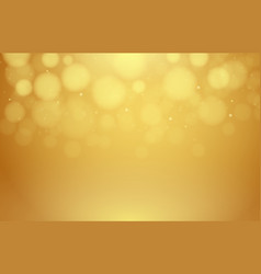 abstract gold background blurred with bokeh vector image