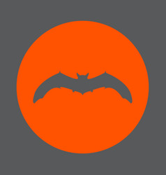 bat round icon flat style simple color vector image vector image