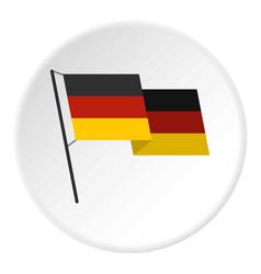 german flag icon circle vector image
