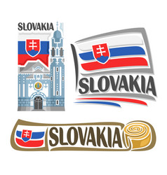 logo for slovakia vector image