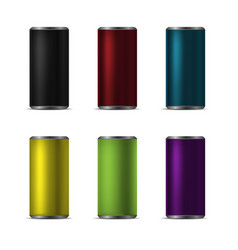realistic aluminum cans vector image