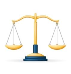 Realistic Justice Scales Law Balance Symbol vector image