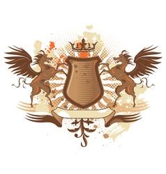 Shield with pegasus vector image