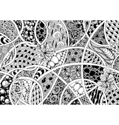 Black and white abstraction vector