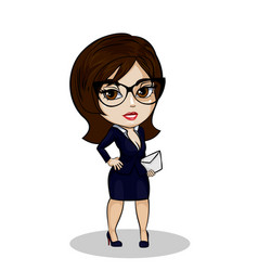 businesswoman with mail vector image vector image