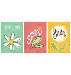 hello spring seasonal banners collection vector image vector image