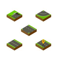 Isometric way set of flat navigation underground vector