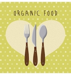 organic food menu design vector image vector image