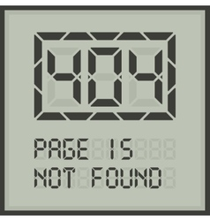 Page in not found digital error message vector image vector image