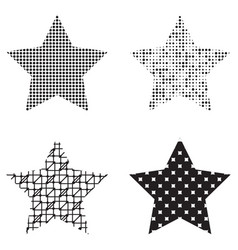 trendy star icons vector image
