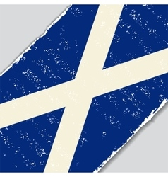 Scottish grunge flag vector