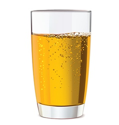 Glass of yellow juice vector image
