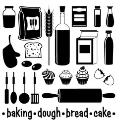 Set of products for baking vector image vector image