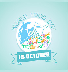 16 october world food day vector