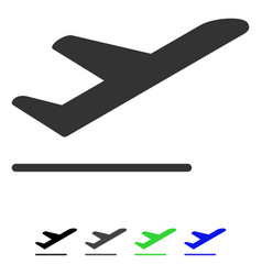 airplane departure flat icon vector image