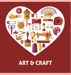 Art and craft promotional poster with special vector