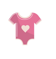 baby girl clothes that used to sleep vector image