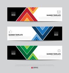 Banner design for business presentation vector