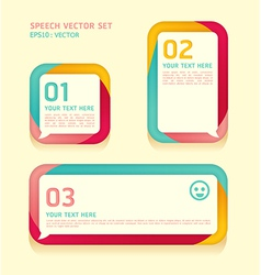 Banner speech bubbles soft color vector image