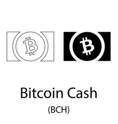 bitcoin cash black silhouette vector image