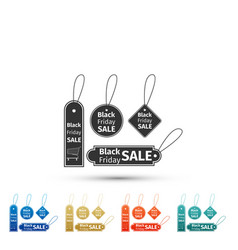 black friday sales tag icon on white background vector image