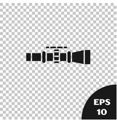 Black sniper optical sight icon isolated on vector