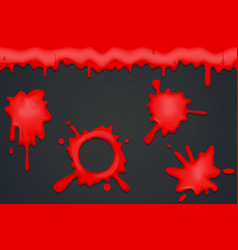 blood spill splash flowing dripping splatter vector image