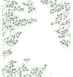 Branches and green leaves vector