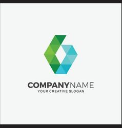 Business logo modern pixel g vector