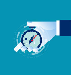 businesswoman working with time pressure business vector image