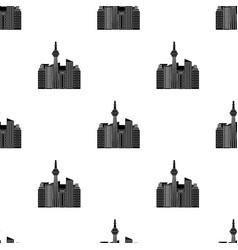 canadian skyscraper canada single icon in black vector image